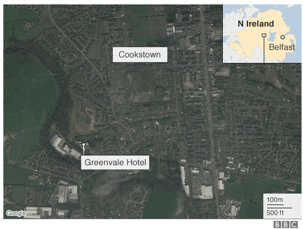 Map of Cookstown area