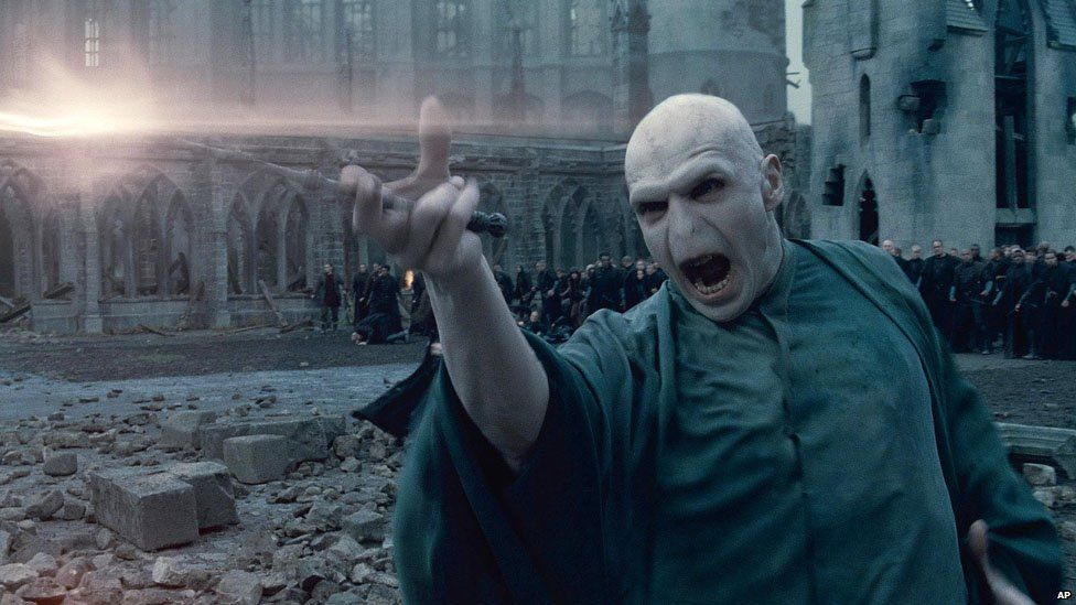 Ralph Fiennes as Voldemort in Harry Potter