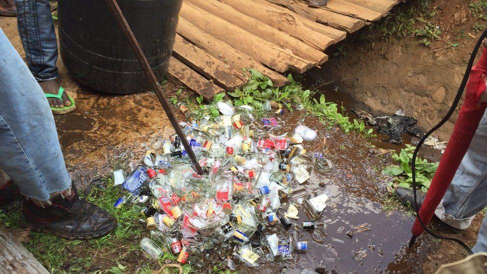 Illicit brew destruction in Kenya