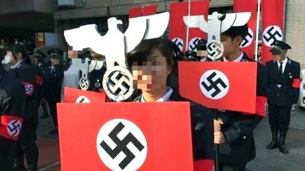 Mock Nazi rally in Taiwan school, 24 Dec
