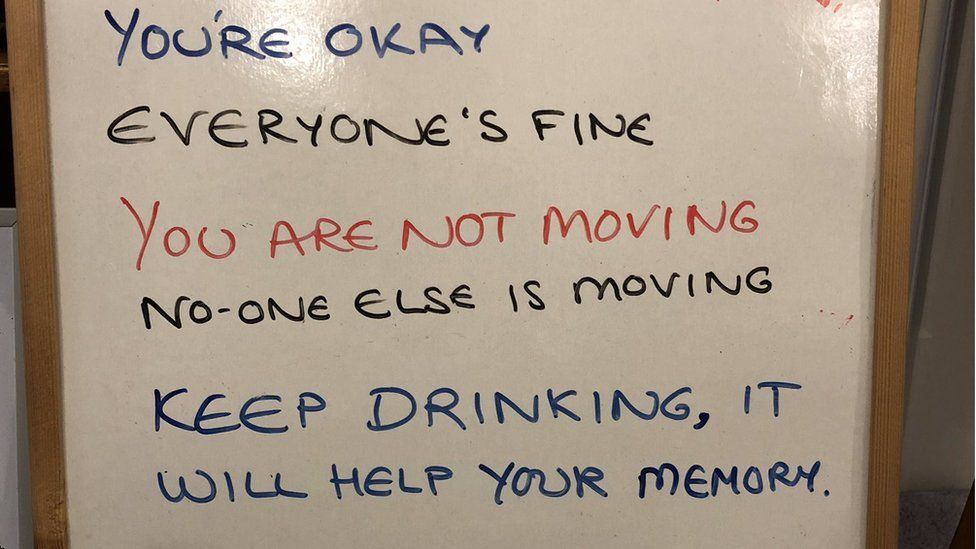 Picture of text which has been designed to reassure someone with dementia