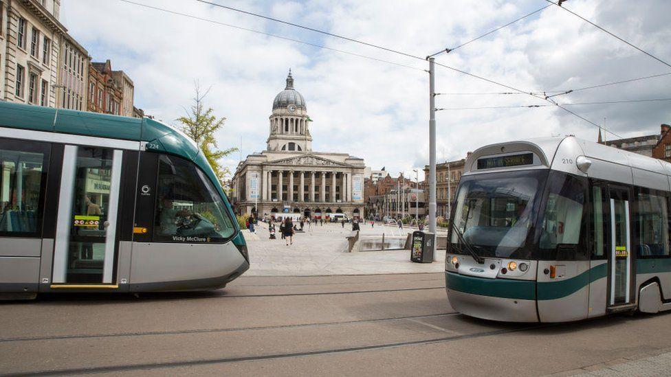 Trams in Nottingham