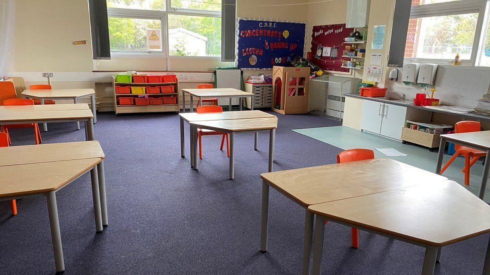 Classroom at North Denes Primary School
