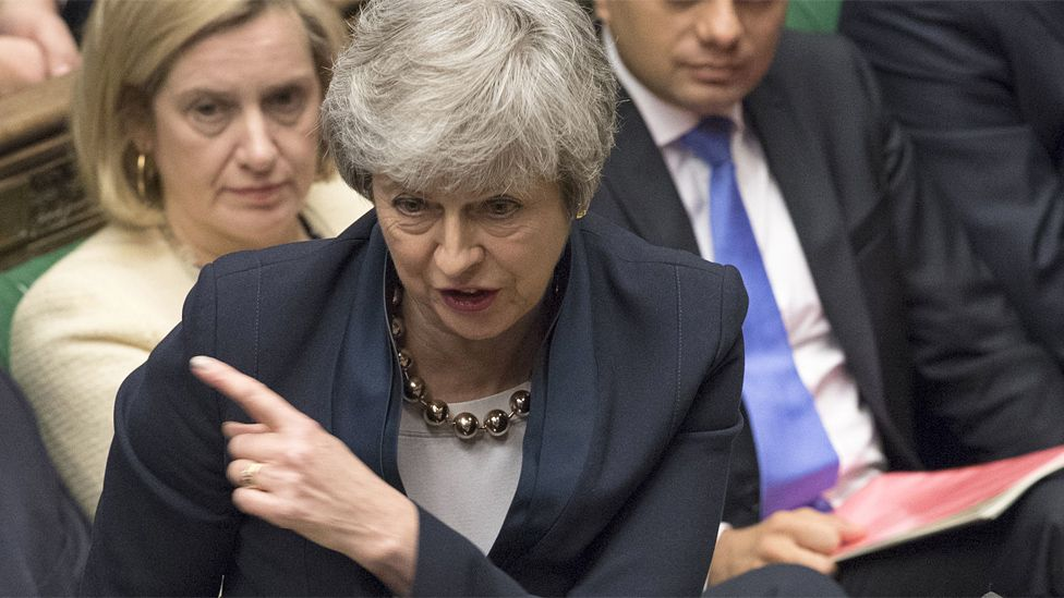 Theresa May in the Commons on 3 April