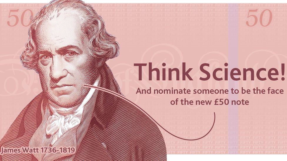 Bank of England banknote nomination advert