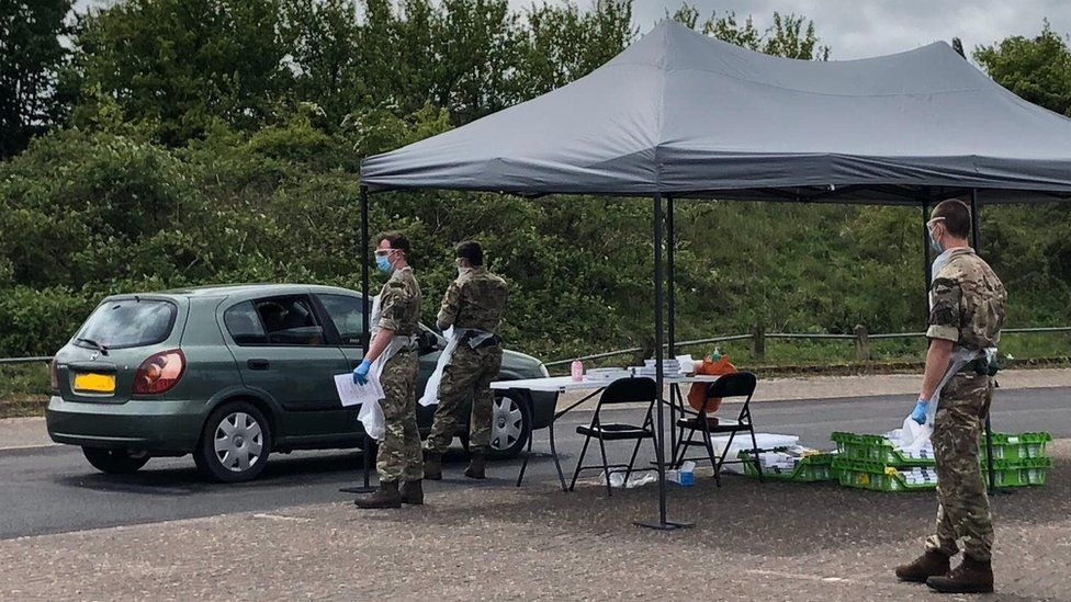 The Royal Marines at a brand new testing centre in Taunton