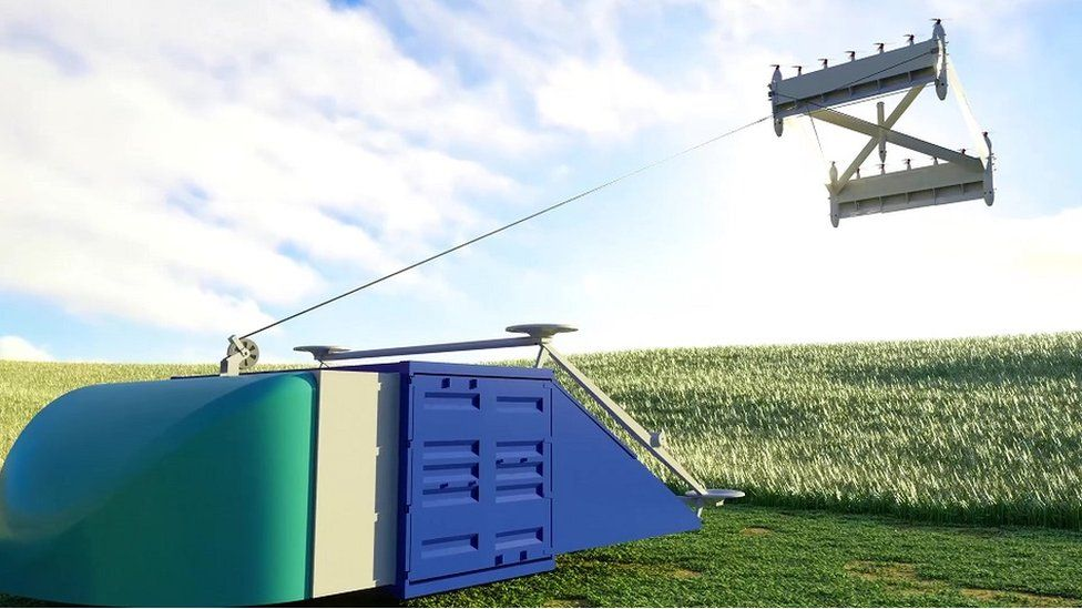 Skypull's drone takes flight on its winch over field