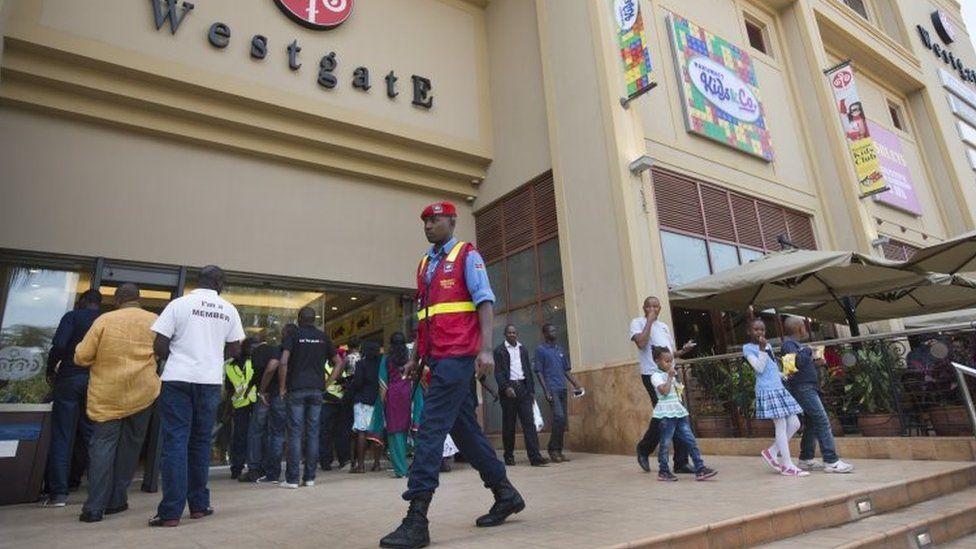 Westgate shopping centre in Nairobi, Kenya - July 2015