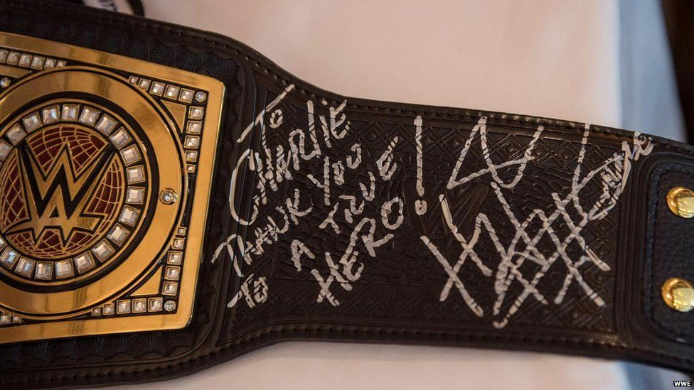 The WWE championship belt