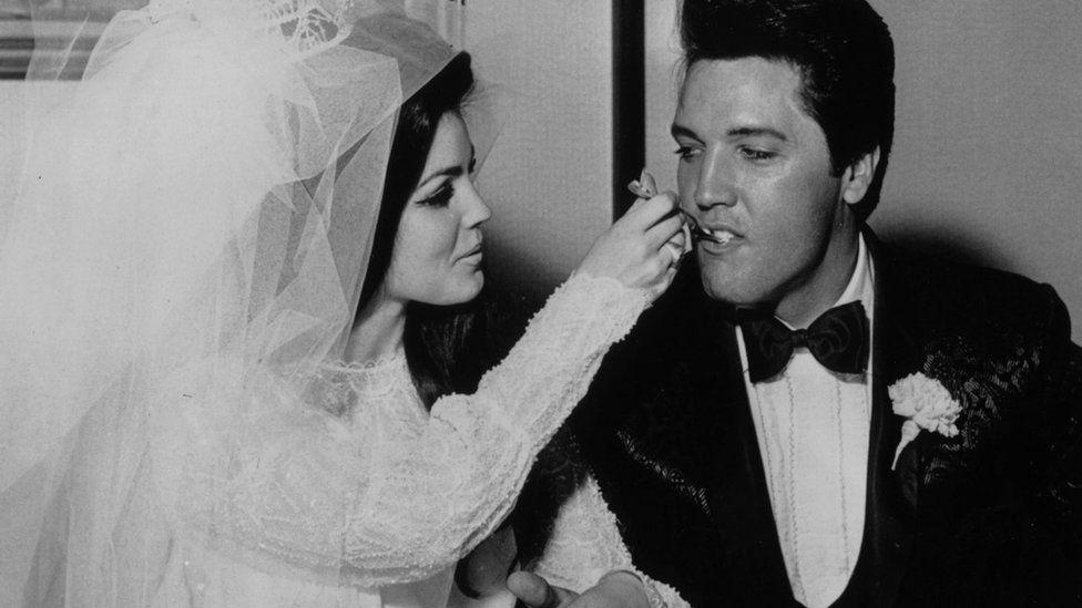 Elvis Presley with Priscilla