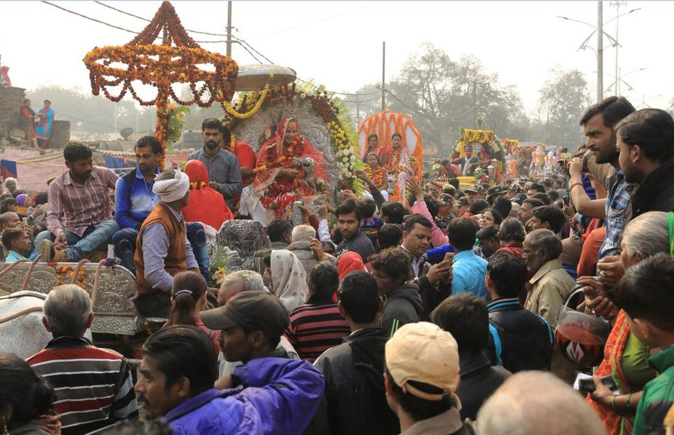 The Kumbh Mela is larger in Allahabad than anywhere else