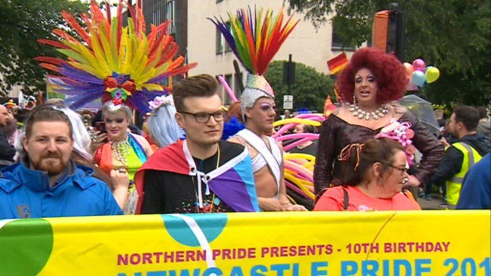 Newcastle Pride parade