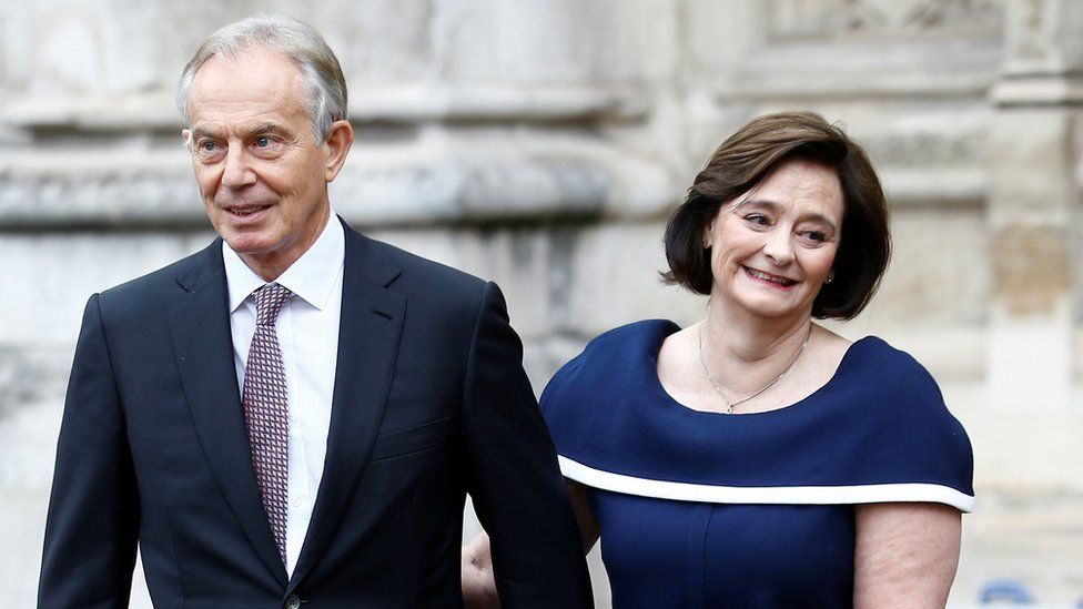 Tony and Cherie Blair in 2020