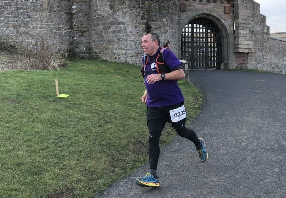 Andy Airey taking part in the run
