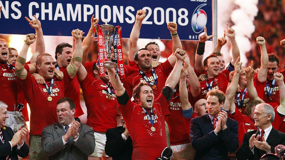 Wales win the 2008 Grand Slam