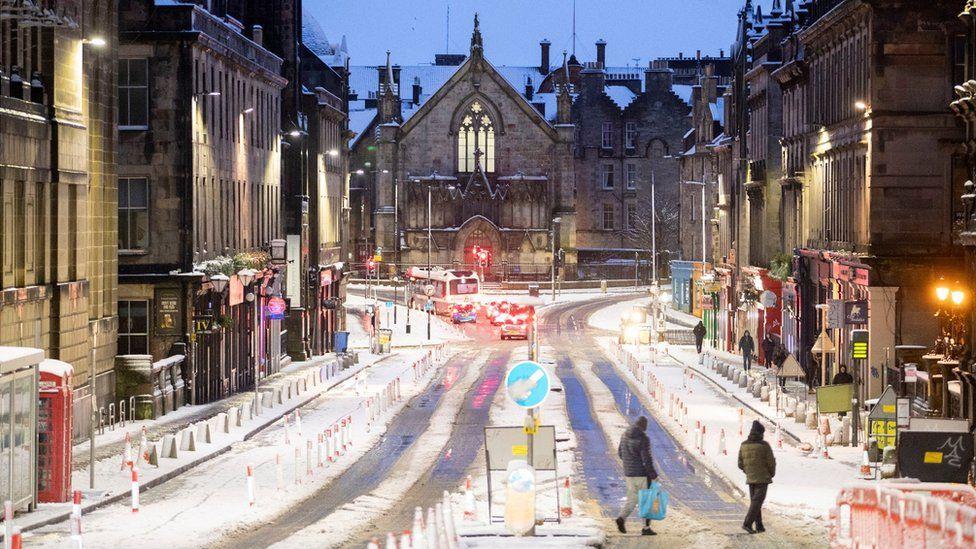 Streets in Edinburgh