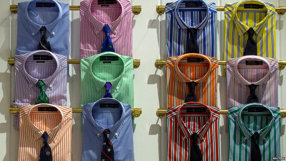 Shirts and ties in a from a Ralph Lauren range