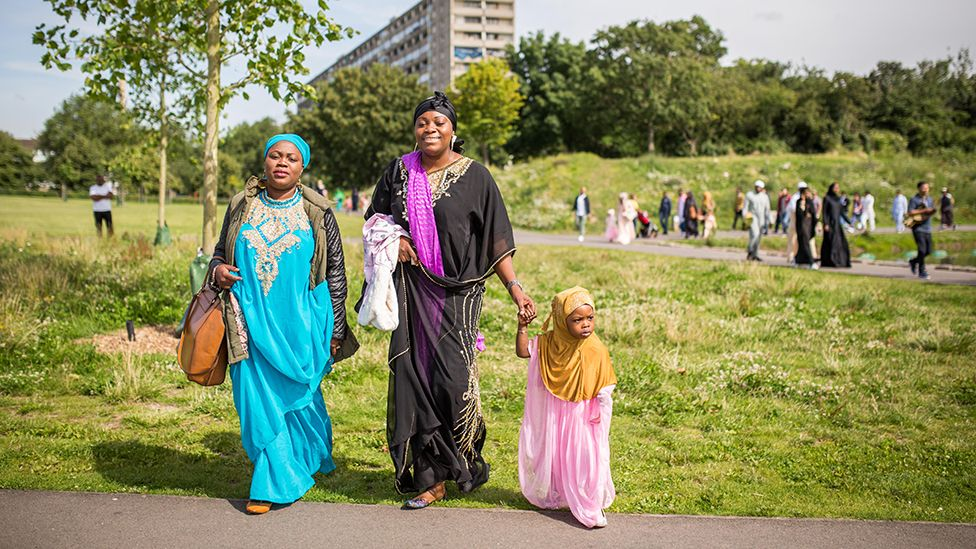 Eid celebrations in south London, 2016