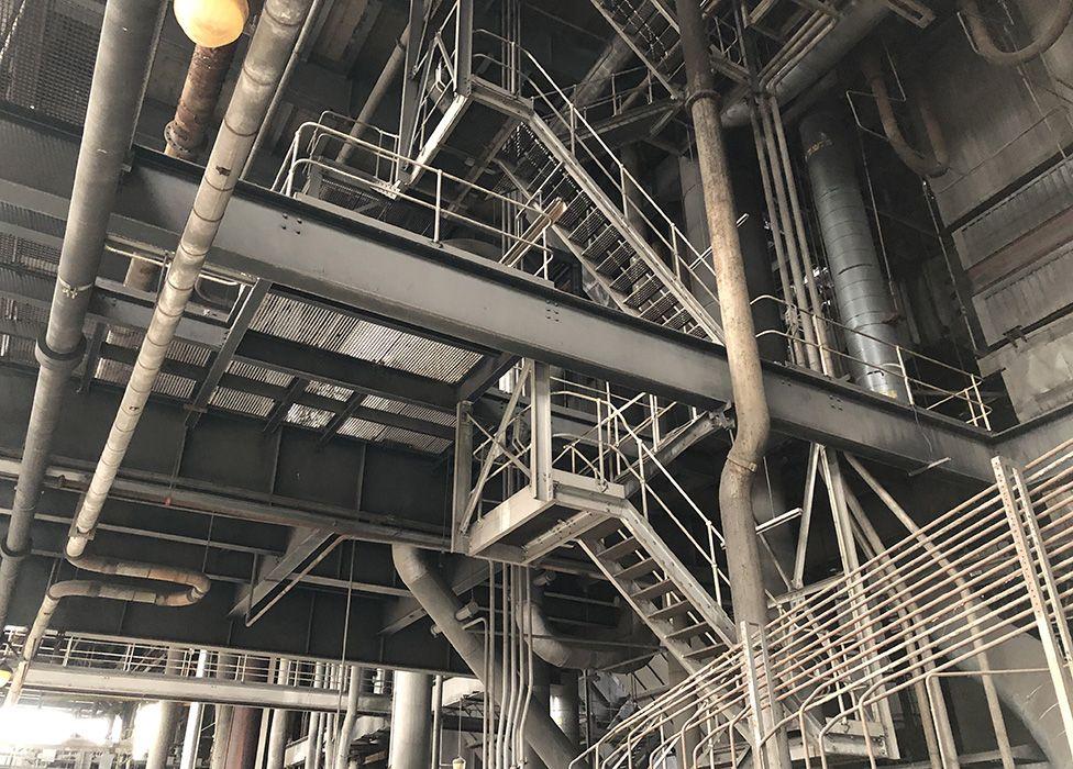 Metal structure inside Longannet