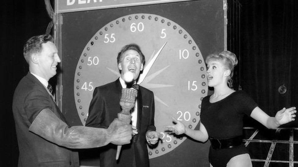 Bruce Forsyth hosting Beat the Clock