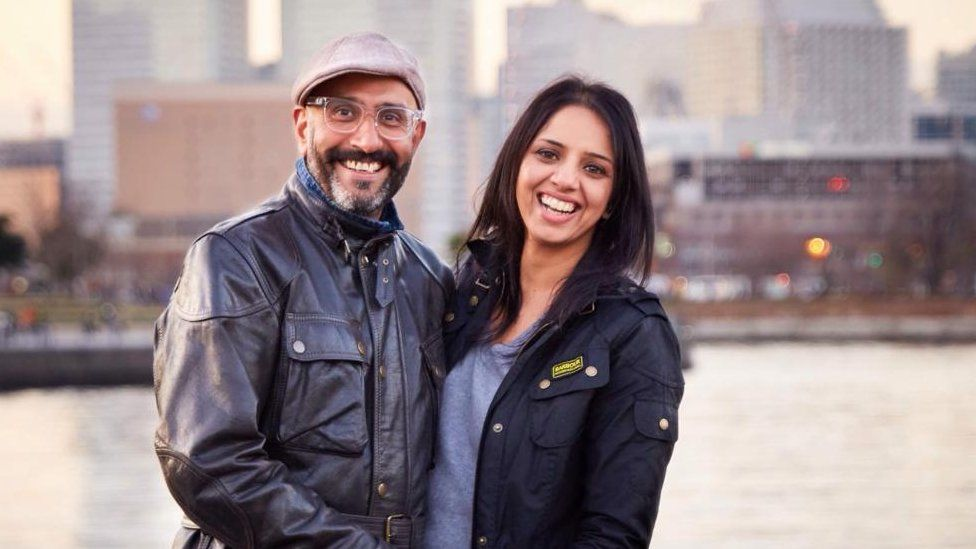 Ravinder Passi and his wife, Sonia