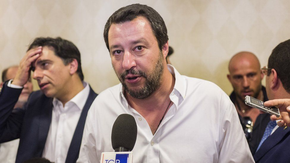 Matteo Salvini, Italy's interior minister