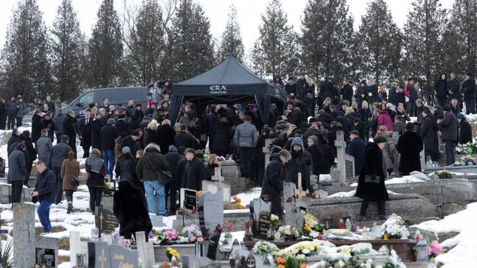 Hundreds attend the funeral of Martina Kusnirova in Gregorovce
