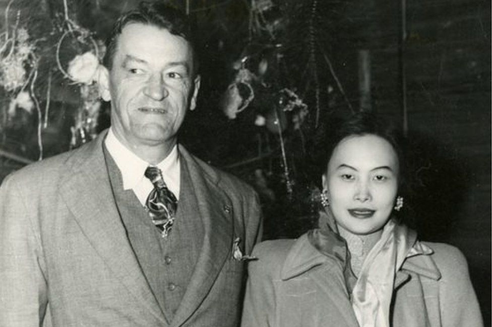 Claire Chennault and Anna Chennault in 1948