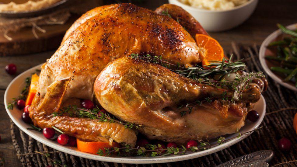 A roast turkey