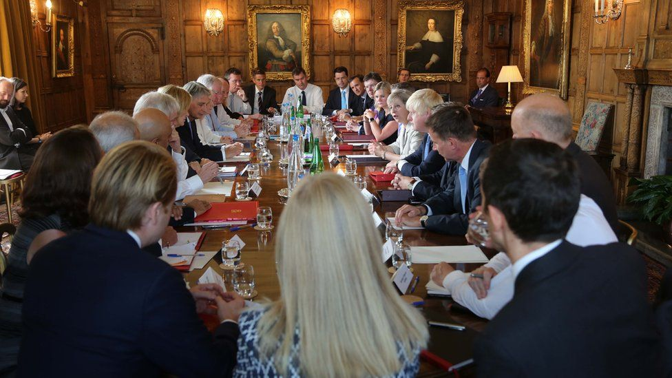 British Prime Minister Theresa May holds a cabinet meeting