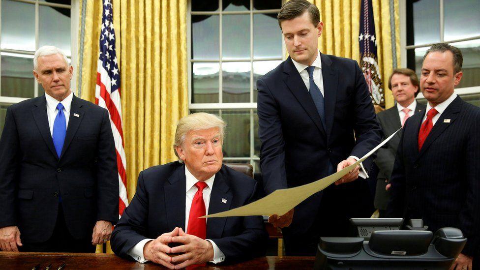 President Trump and Rob Porter