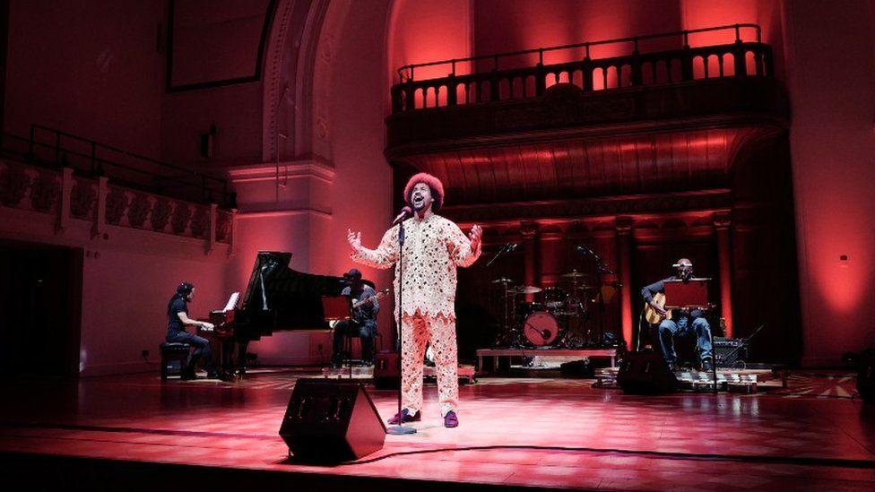 Obioma Ugoala performs during Turn Up London at Cadogan Hall in June 2020