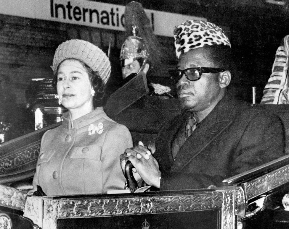 The Queen and President Mobutu in 1973