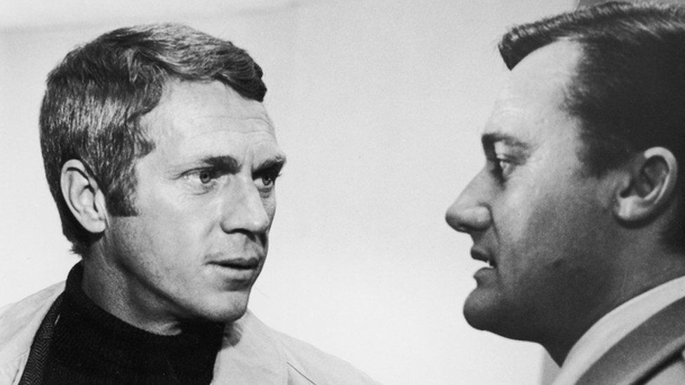 As the scheming Chalmers in Bullitt with Steve McQueen
