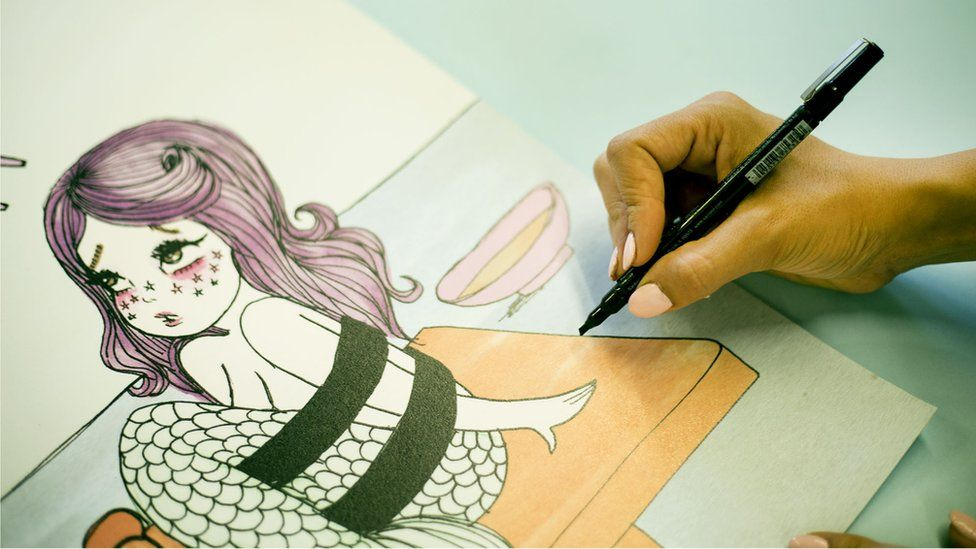 Ms Valfre started publishing her drawings on her blog