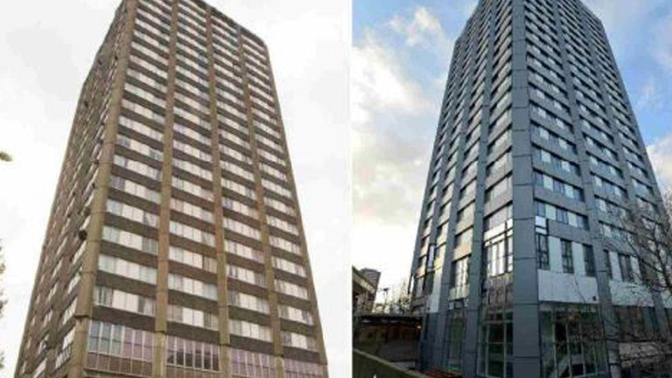 Grenfell Tower before and after renovations