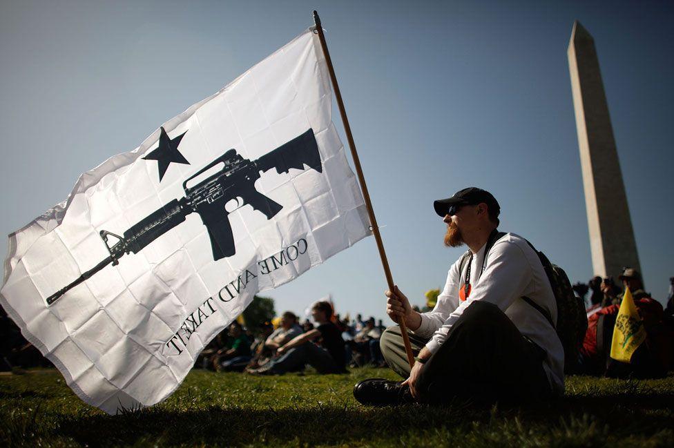 Pro-gun rights protester