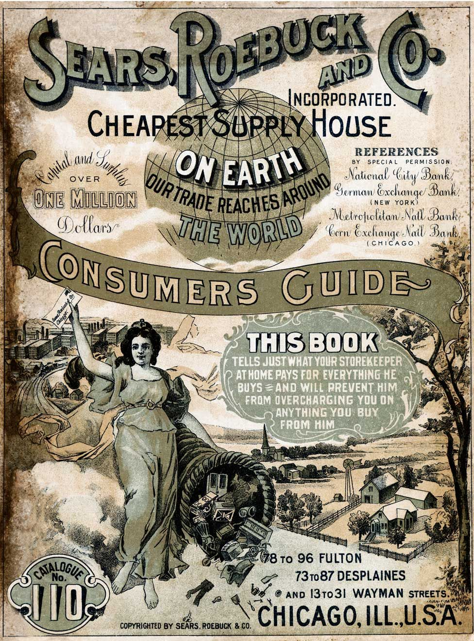 The cover of the Sears Roebuck and Co consumers guide from 1900
