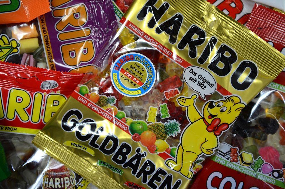 Haribo packets of gummy bears