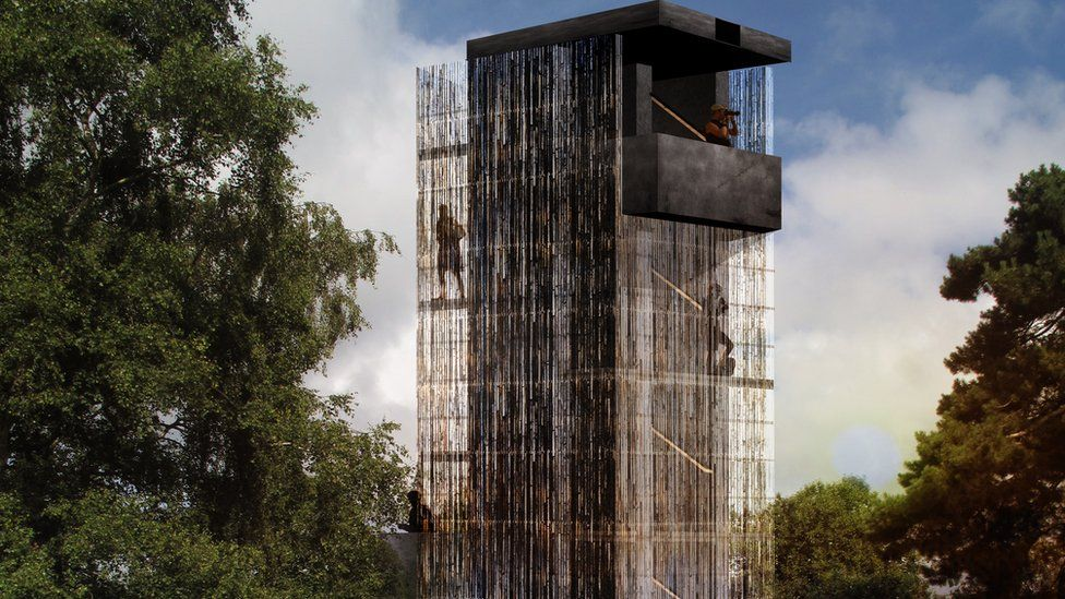 Artist's impression of the proposed Sutton Hoo viewing tower.