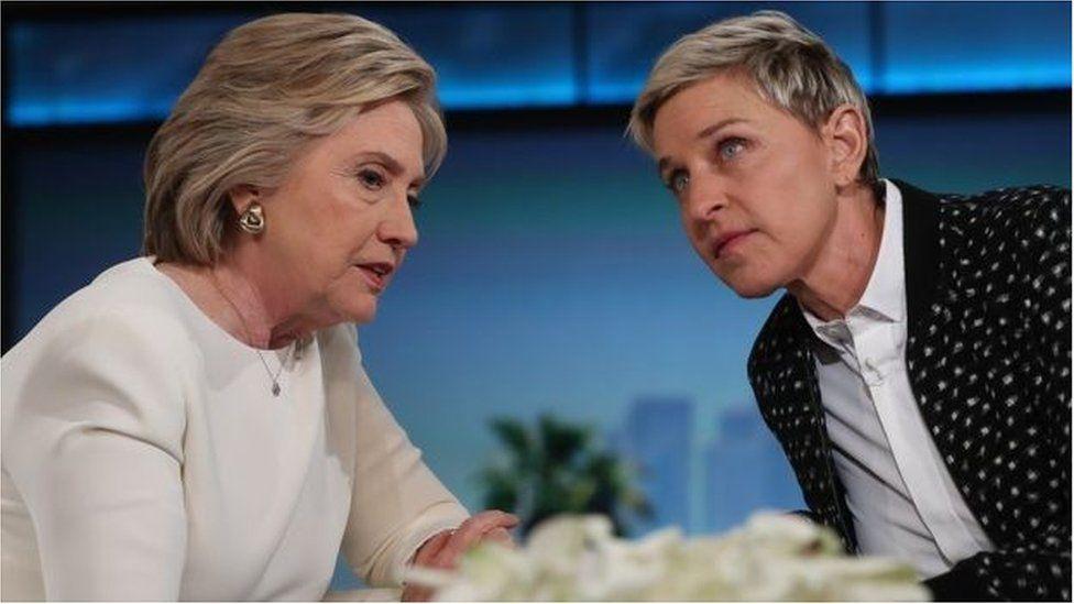 Ellen DeGeneres a Hilary Clinton