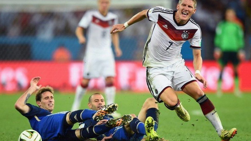 Germany v Argentina in the 2014 World Cup final