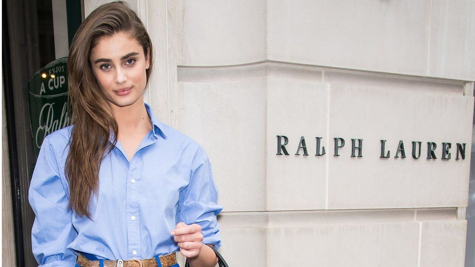Model Taylor Marie Hill is seen leaving Ralph Lauren Spring/Summer 2019 fashion show during New York Fashion Week.