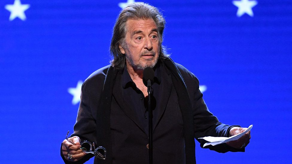 Al Pacino pictured at the Critics' Choice Awards on Sunday