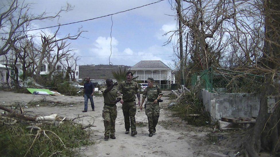 a disaster relief operation