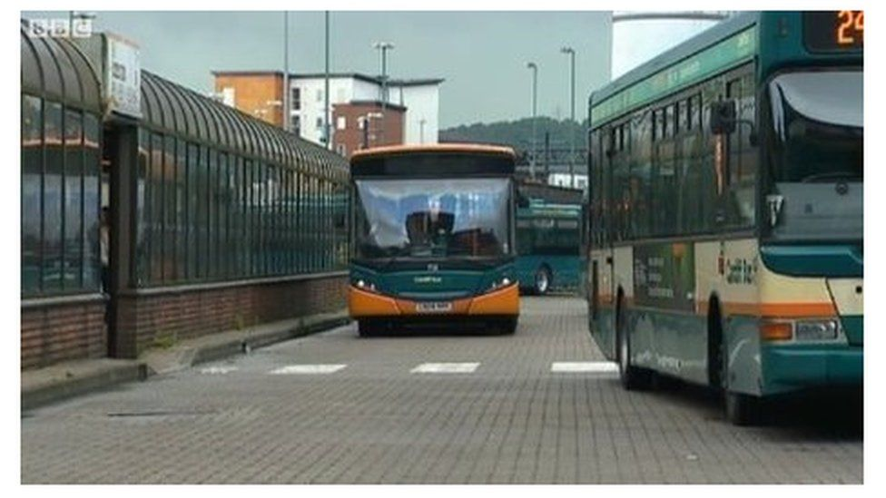 A photo of Cardiff's old bus station