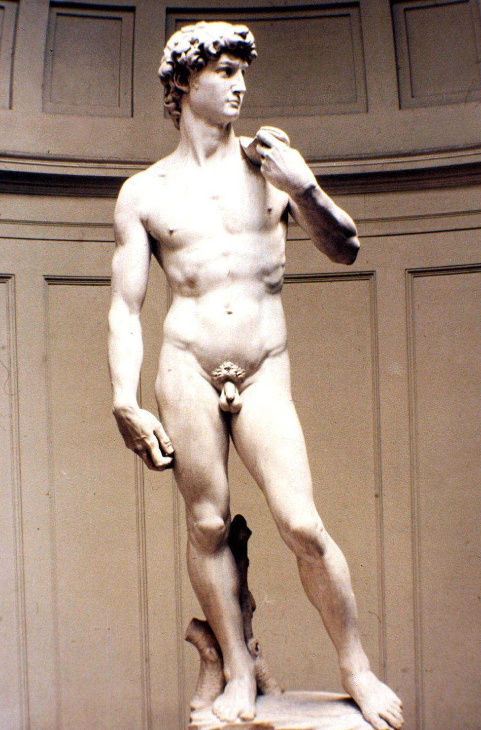 Michelangelo's marble statue of David