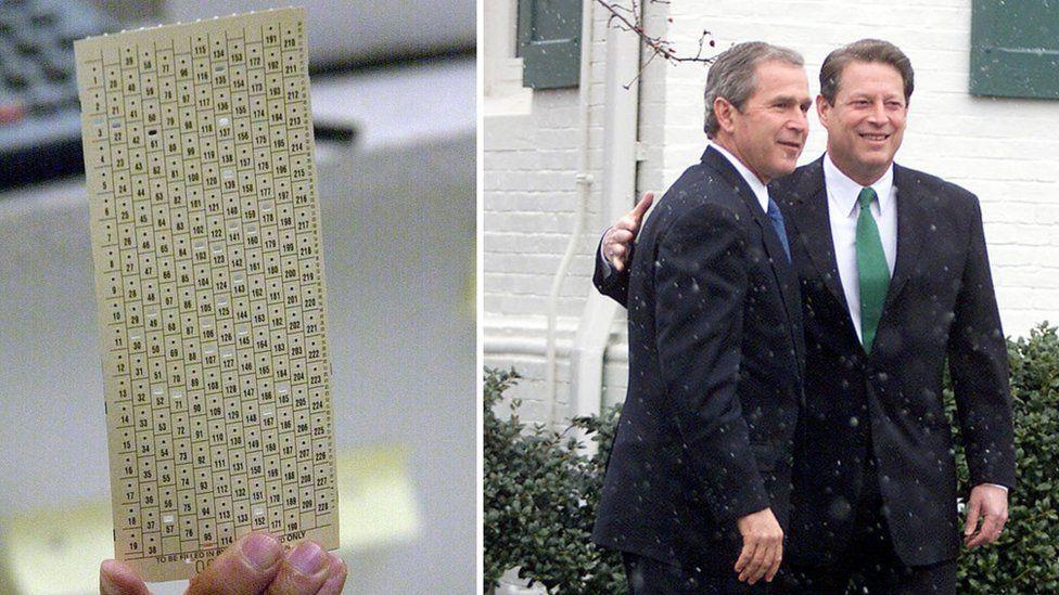 Taflen bleidleisio, Bush a Gore