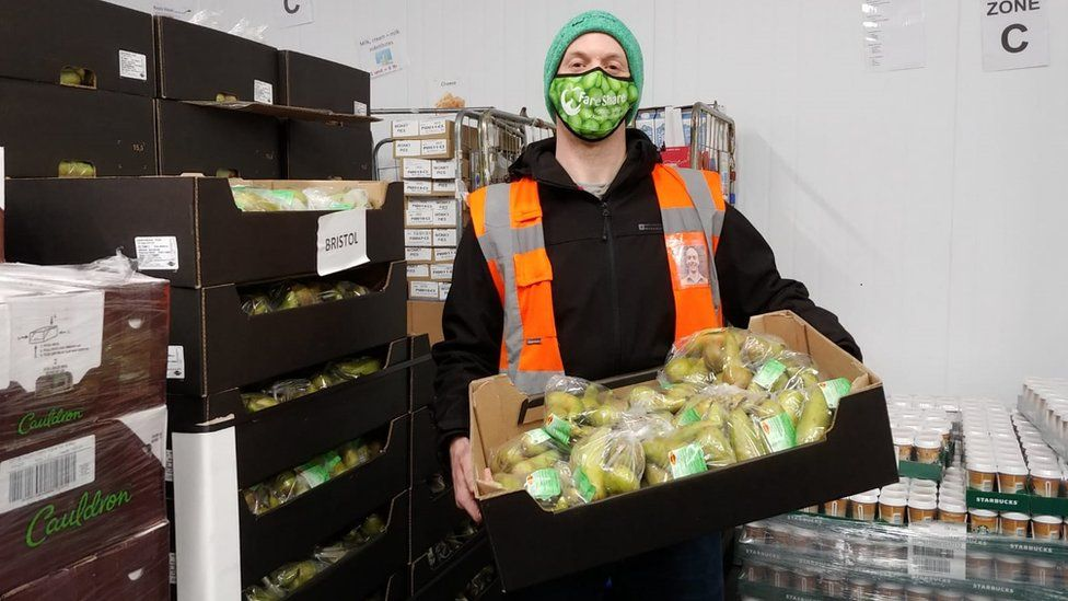 Simon Jarvis at the FareShare South West warehouse at Ashton Gate in Bristol