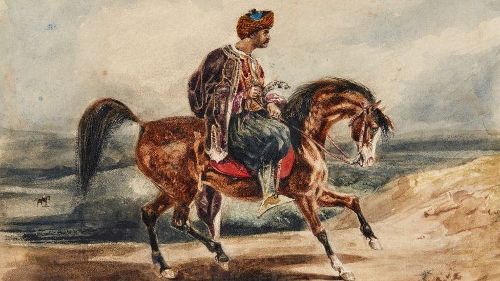 Eugene Delacroix - Oriental Horseman